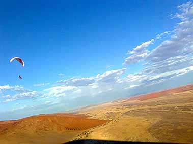 Paragliding at Sossuvlei